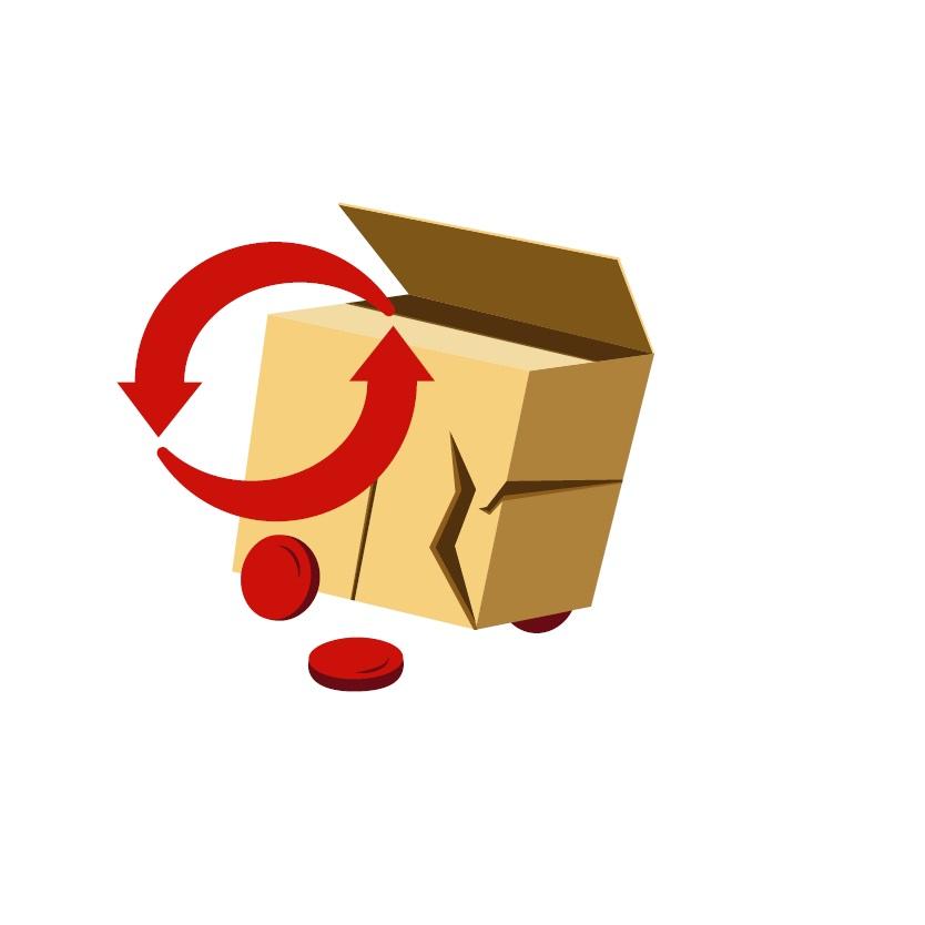 výměna zboží při poškození během přepravy, obratem odesíláme dové zbožíí