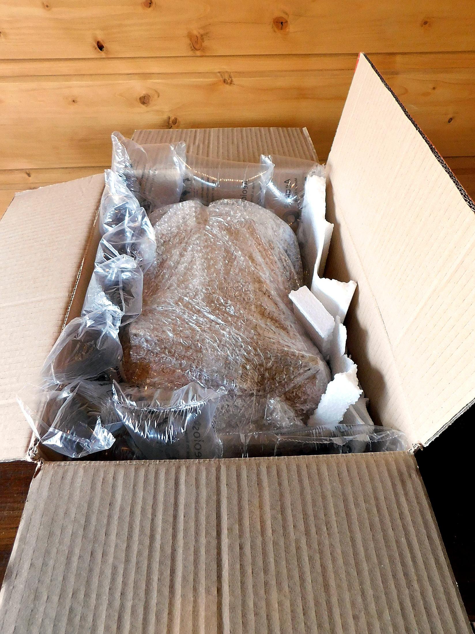 Balení zboží. Ukázka balíku.