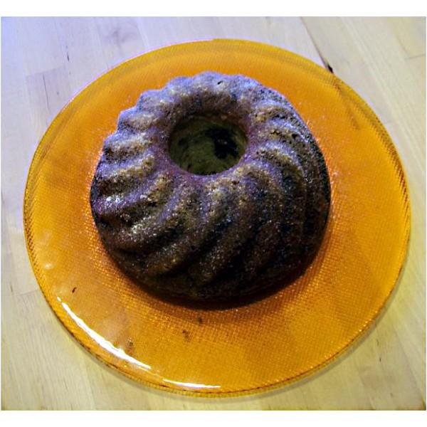 Bábovka z kameninové formy. Recept na bábovku. Bábovka pečená v horkovzdušné troubě na 180°C.